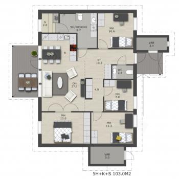 Visate-rakennuspalvelut-myytavat-asunnot-uudiskohteet-oulu-Liikkujantie-A-talo-103m