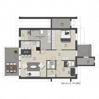 Visate-rakennuspalvelut-myytavat-asunnot-uudiskohteet-oulu-Liikkujantie-A-talo-74m