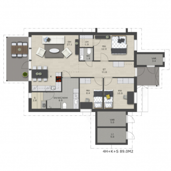 Visate-rakennuspalvelut-myytavat-asunnot-uudiskohteet-oulu-Liikkujantie-A-talo-89m